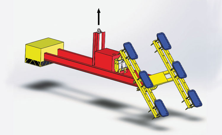 3,000lbs Cantilever Glass Lifter
