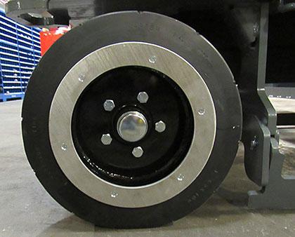 Anti-spark wheel covers