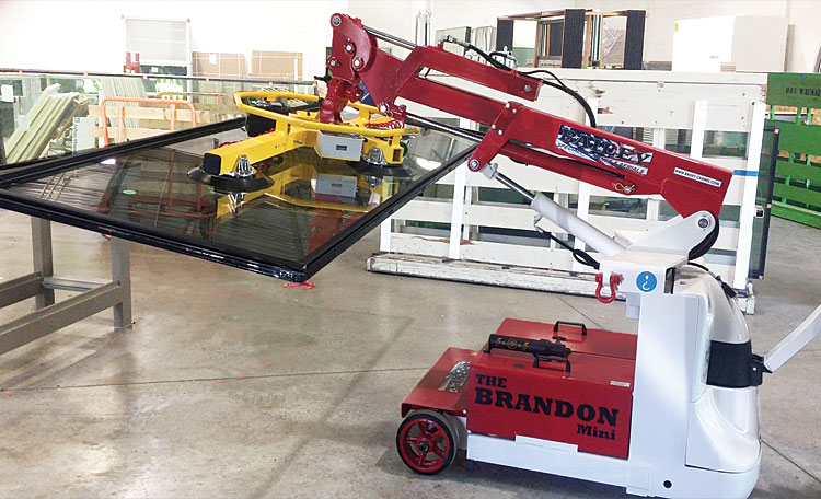 Telehandler Glass Lifters | Bailey Specialty Cranes and Aerials