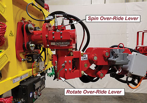 Manual over-ride for quick, precise adjustments